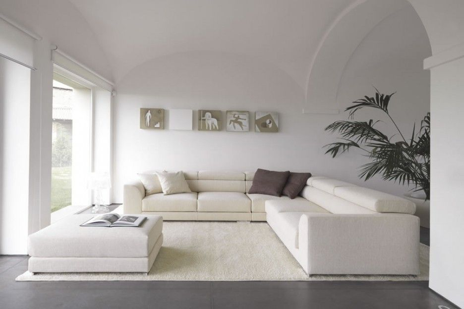 Brilliant Modern Italian Furniture With White Sofa And Interior