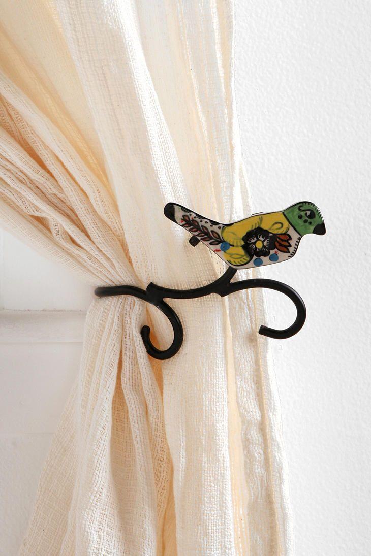 Ceramic Bird Curtain Tie Back Urban Outfitters Bird Curtains