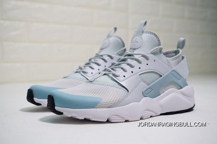 brand new 49802 1fa93 Nike Air Huarache Run Ultra White Textile 847568-011 Grey Women Mens  Running Shoes New Year Deals