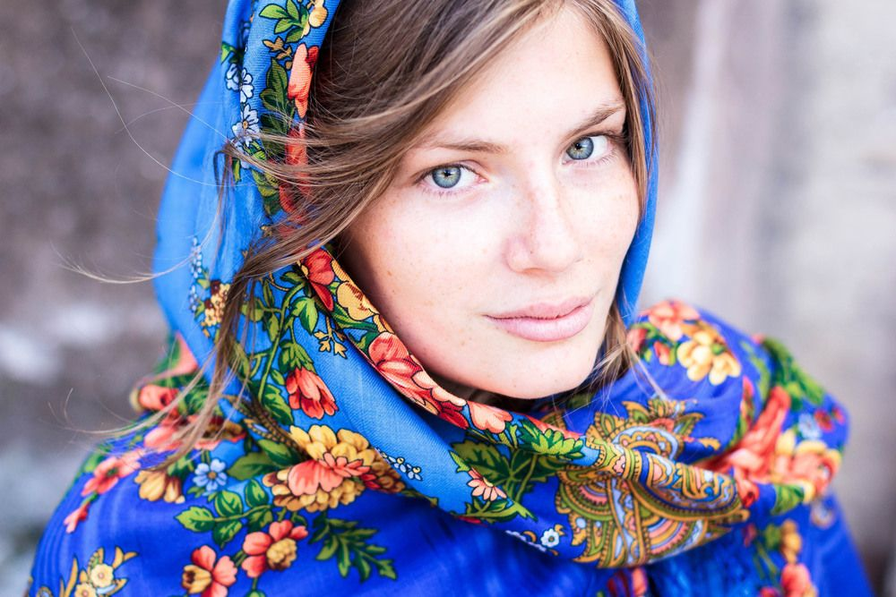 The Blue Russian Scarf
