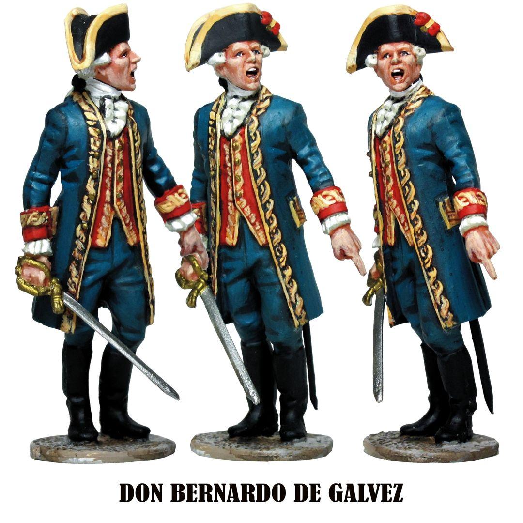Don Bernardo de Galvez escala 1/30 pintado Pintar