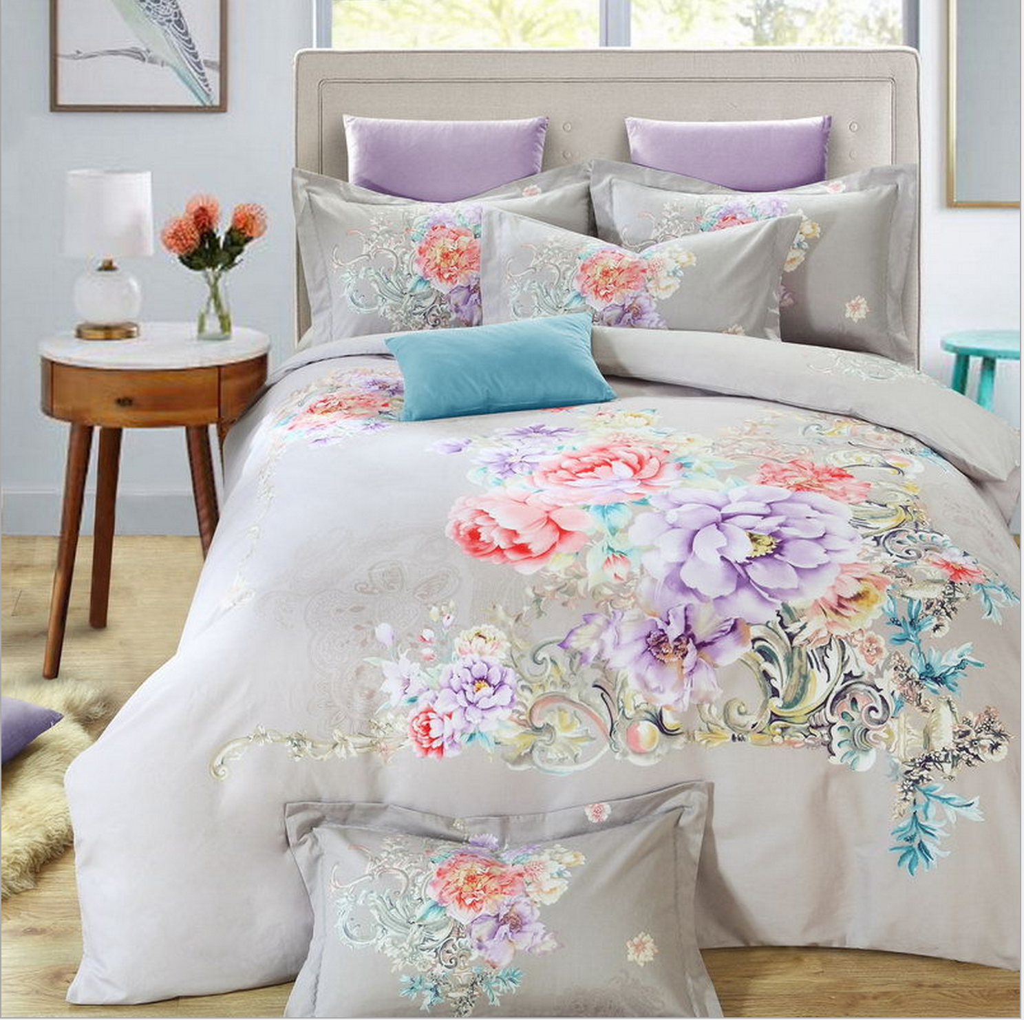 Newly wed or not, this eye-catching bedding set will light ...