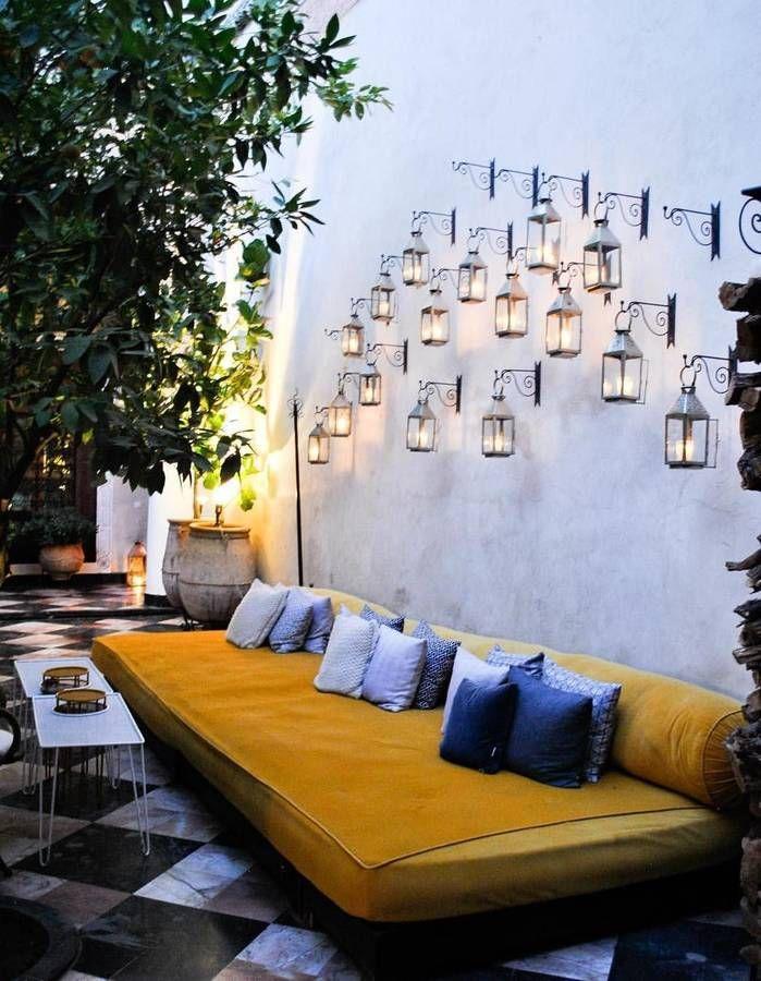 15 idées pour pimper le mur de sa terrasse - Elle Décoration Yard