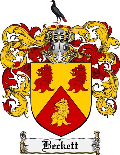 Beckett Coat of Arms Beckett Family Crest Instant Download ...