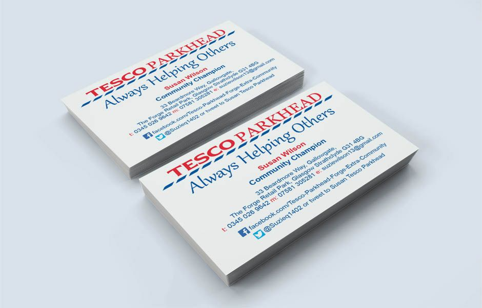 TESCO - Business Card design using Tesco\'s Corporate Colours ...