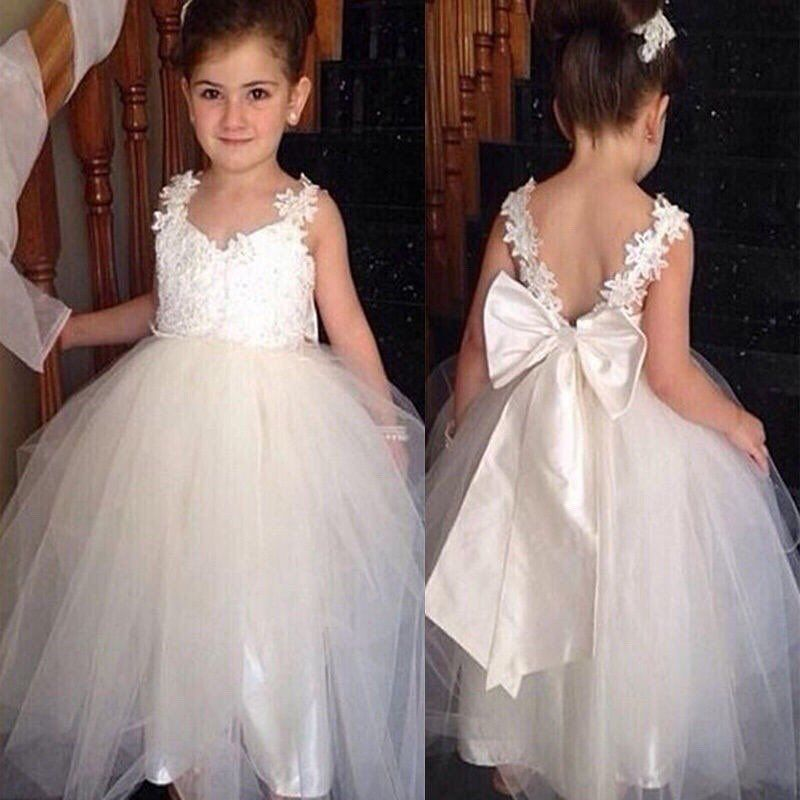 Flower Girl Princess Gown Baby Kids Party Bridesmaid Formal short Tutu Dresses