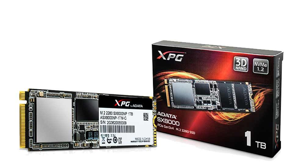 ADATA launches new XPG SX8000 M.2 form factor gaming SSDs - Digit
