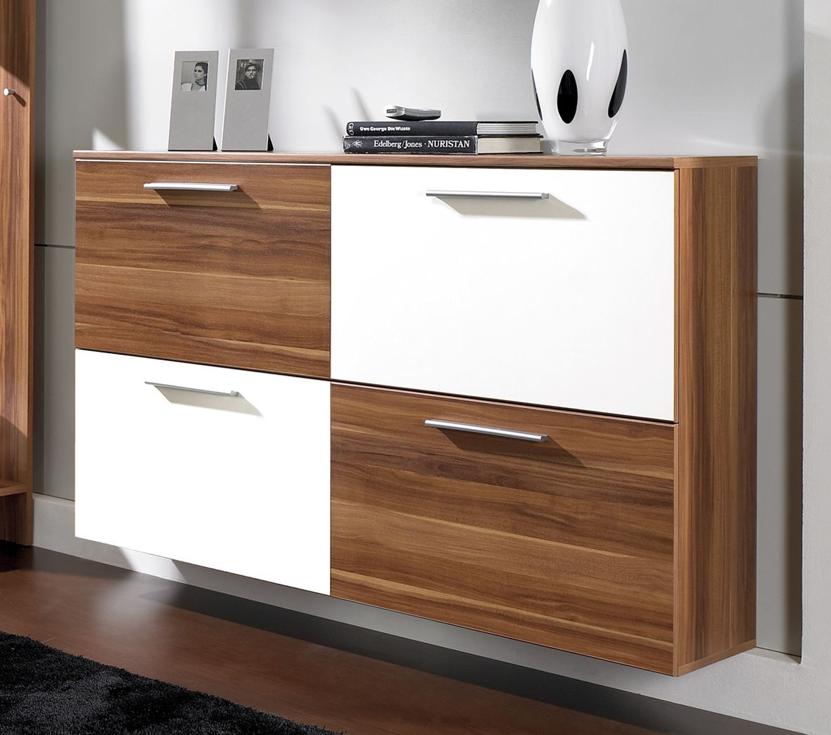 Shoe Cabinet Intro Shoe Cabinet In Walnut And White Shoe Cabinets Fashion  Shoe Storage Cabinets Ideas Part 97