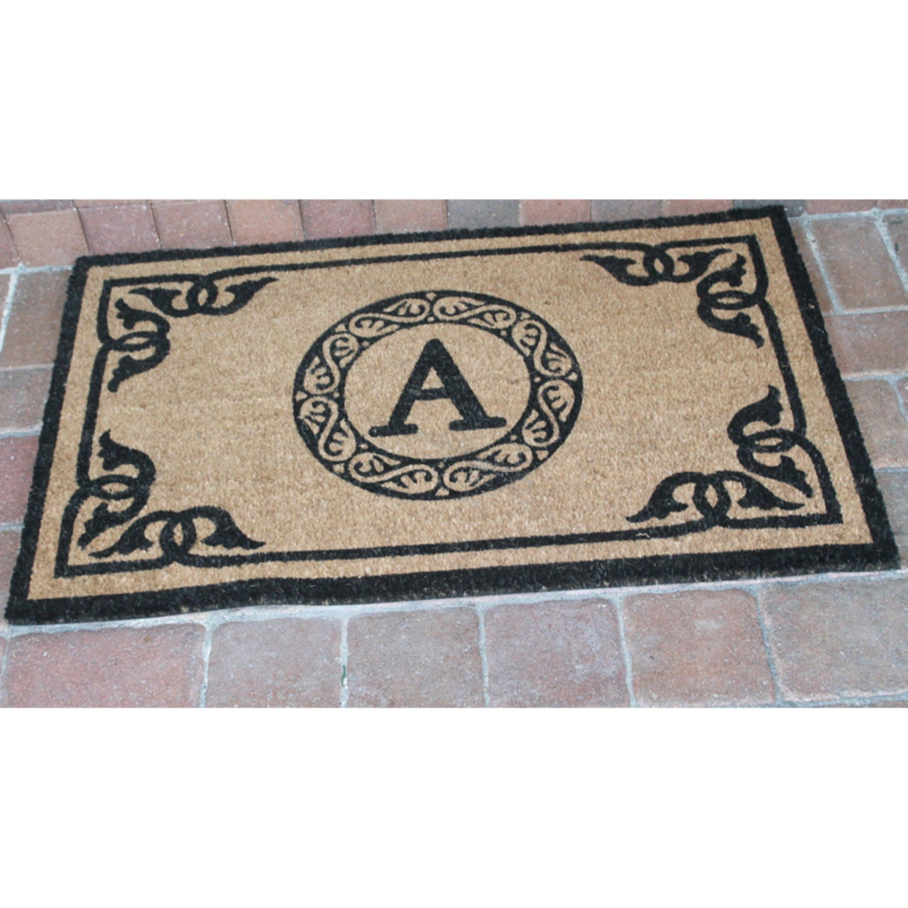 entry exciting outdoor wuyizz golden mats doormat monogram monogrammed door cool mat design