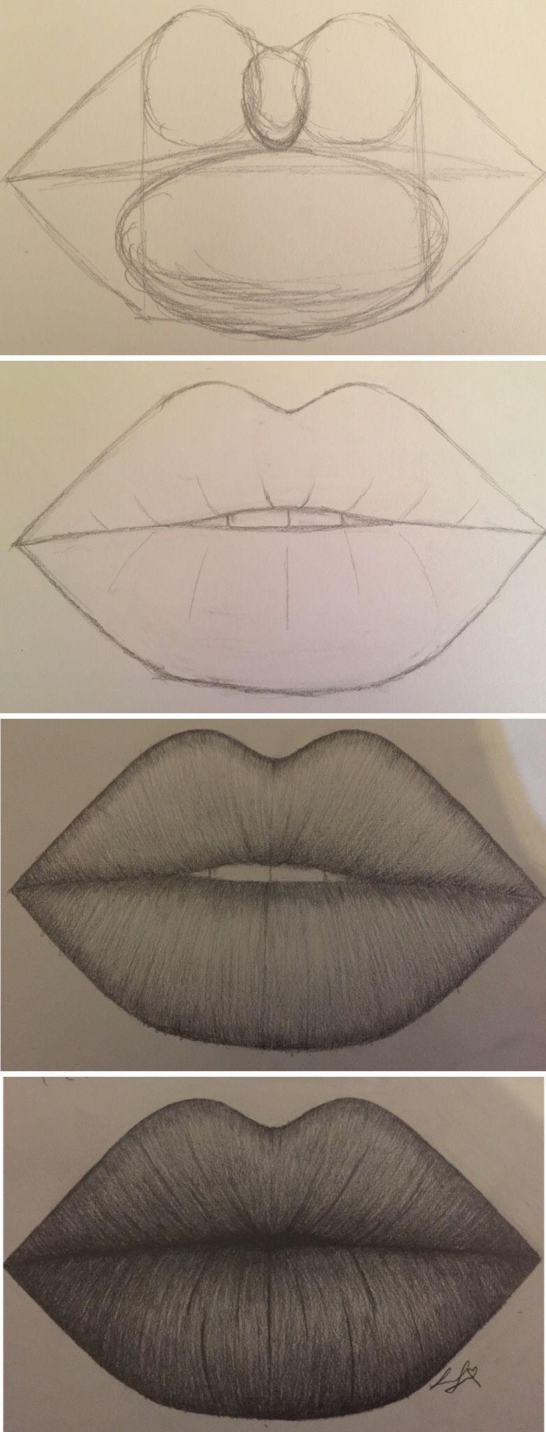 Guide Lines For Lips By Larissa Junghans Art Pinterest Kresby