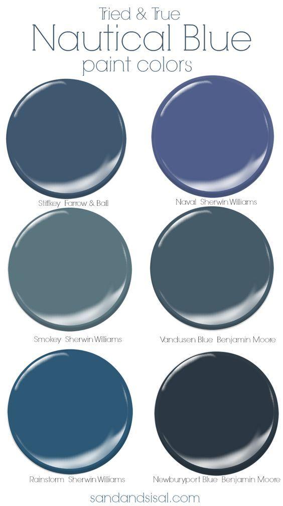 Tried And True Nautical Blue Paint Colors Blue Paint Colors