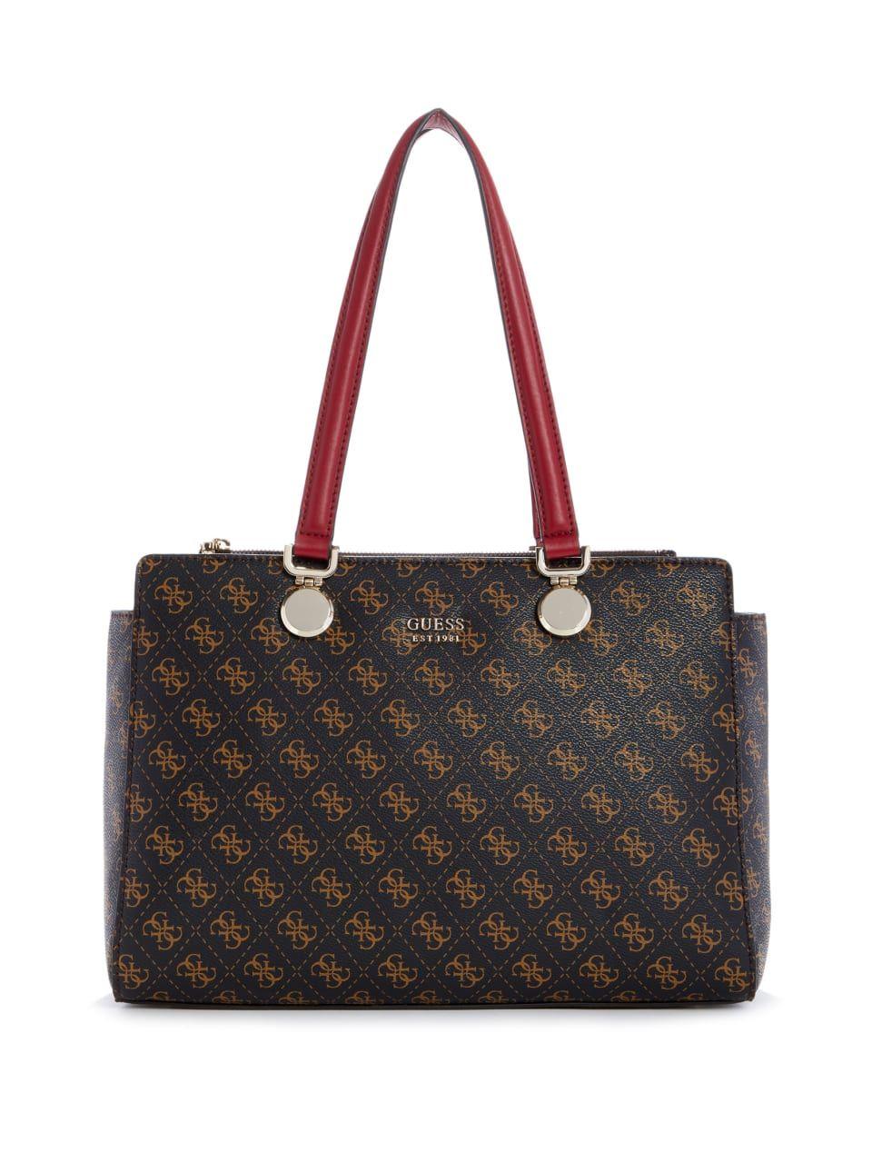 Aline Logo Society Carryall, Brown Multi in 2019 | Handbags