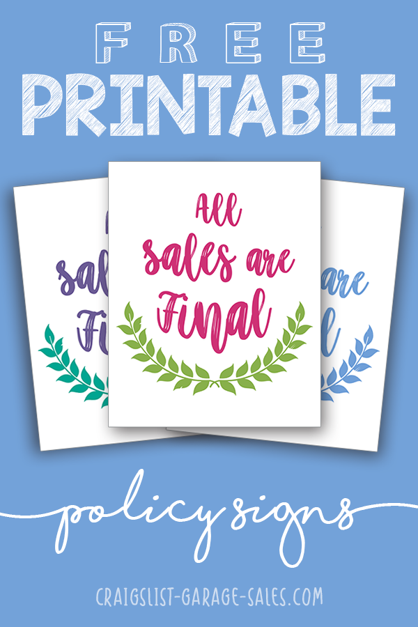 free printables cute all sales are final signs craigslist garage sales oklahoma city