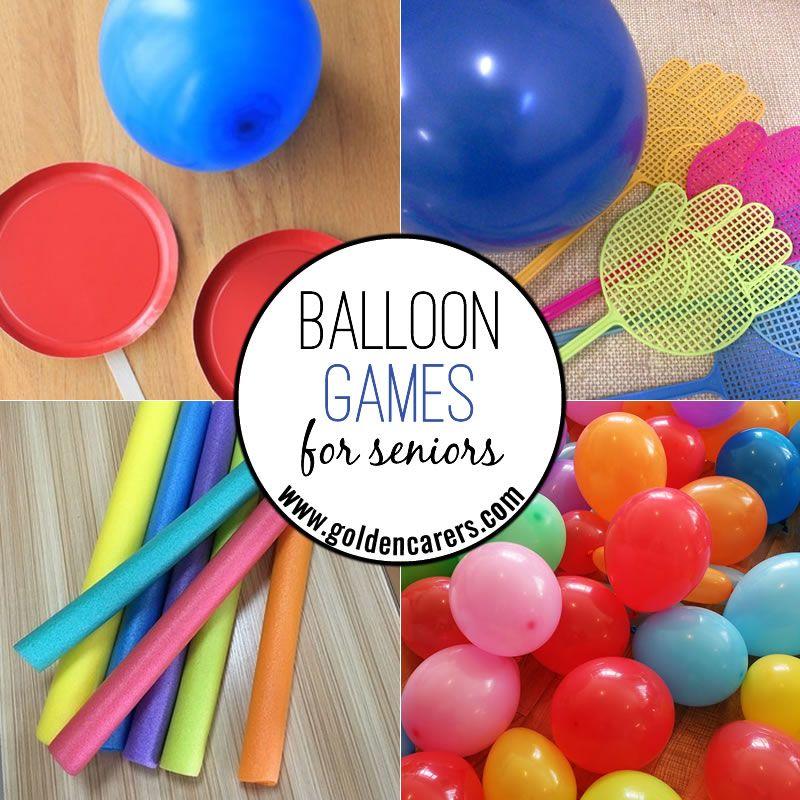 Balloon Games Balloon games, Elderly activities