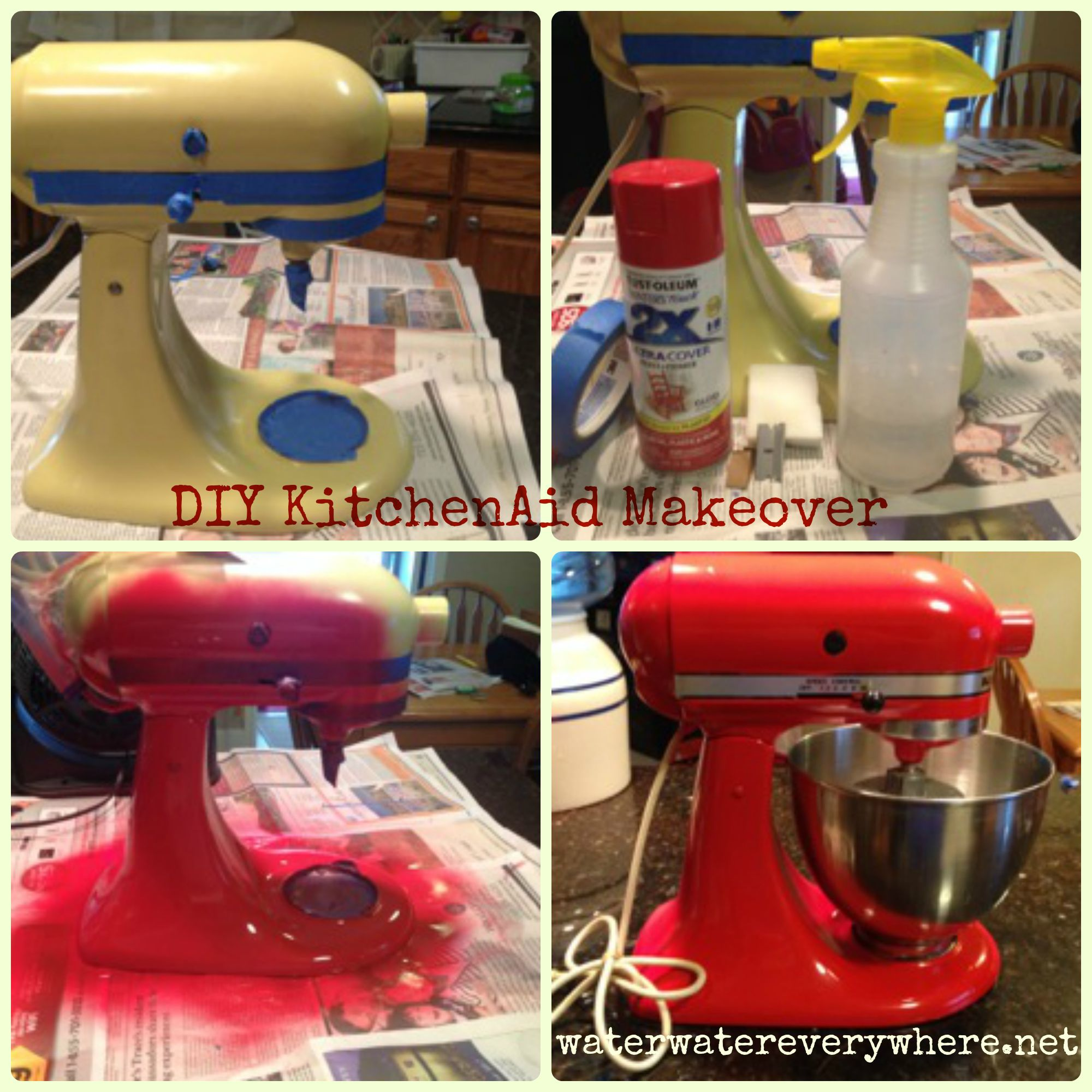 Diy vintage kitchenaid mixer makeover kitchen aid mixer