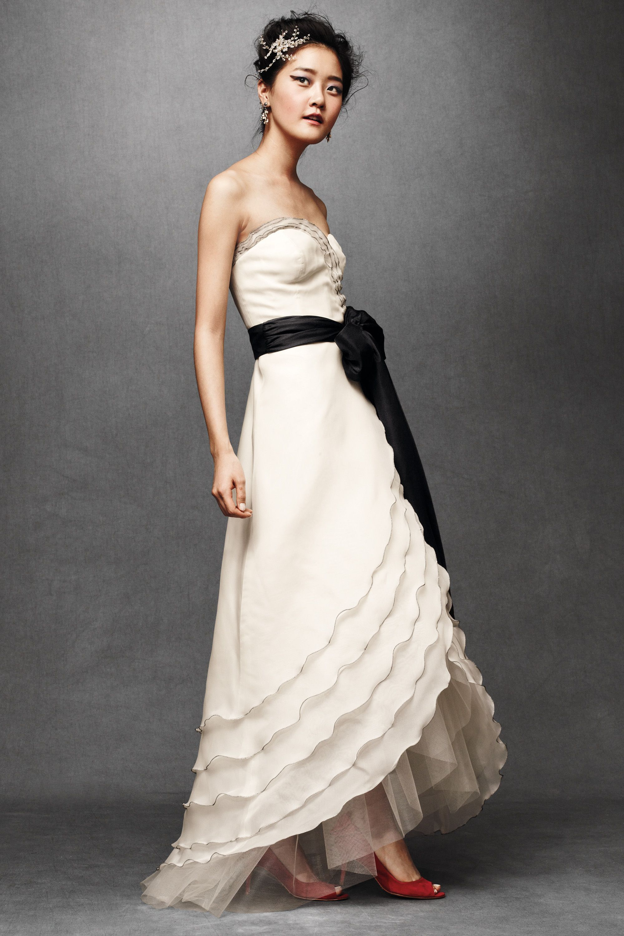 Tiered Tulip Gown Vintage inspired wedding dresses
