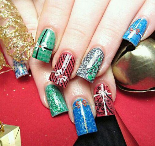 Christmas Nail Art Designs 2013 Christmas Present Nail Art Christmas Nail Designs Christmas Nail Art Designs