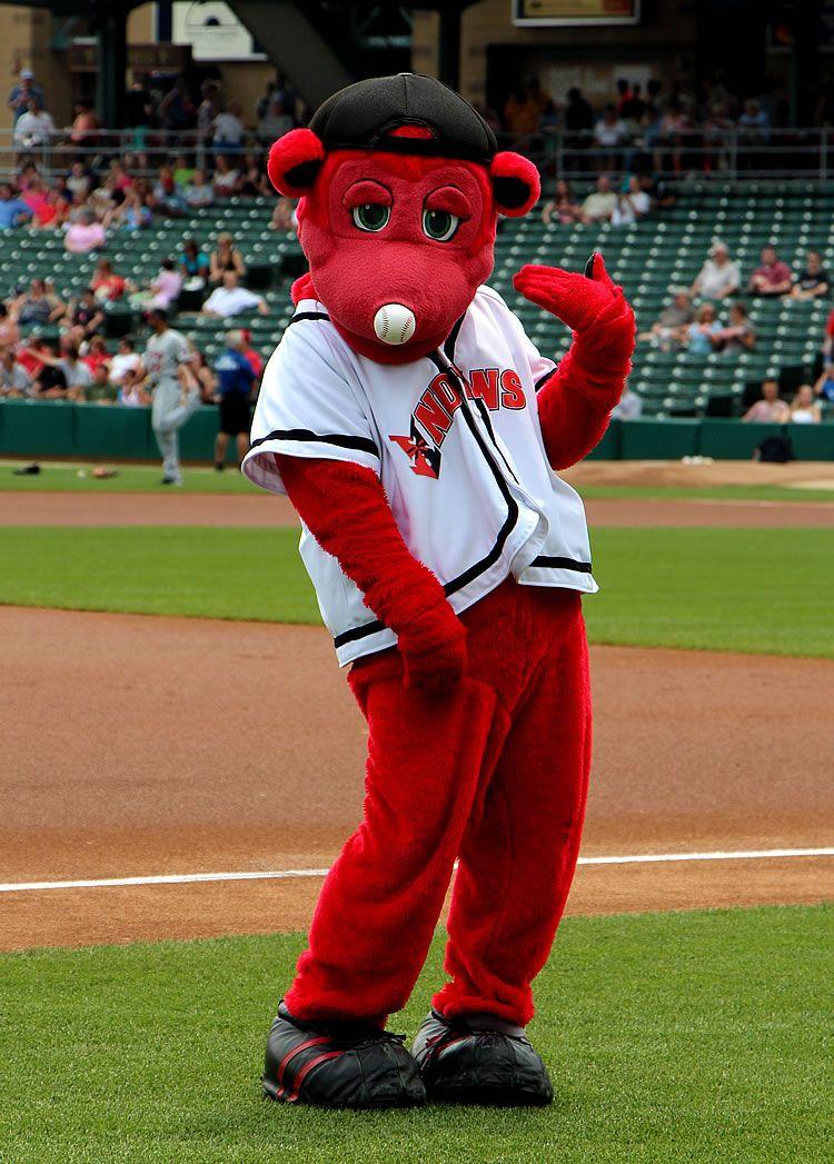 Rowdie Indianapolis Indians Mascot Aaa International League Indians Minor League Baseball Indianapolis