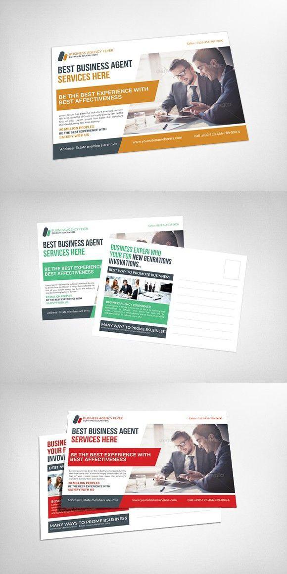 Agency Corporate Business Postcard | Business postcards, Corporate ...