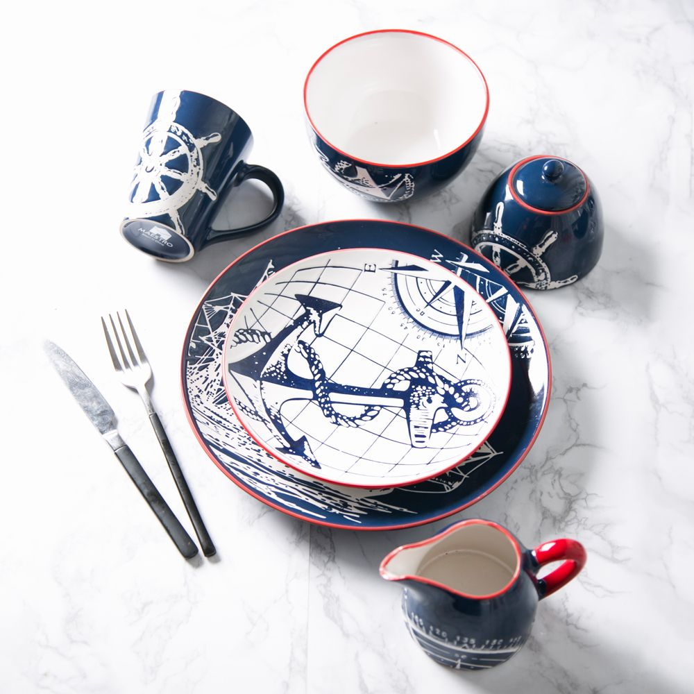 adding this to my registry !  sc 1 st  Pinterest & Creative Ceramic Tableware Plate Hand-painted Blue Boat Dish Dishes ...