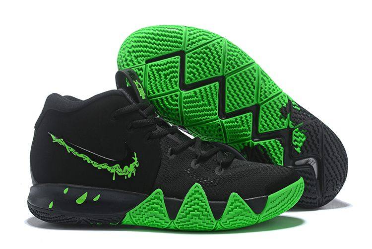 "5dd6ef631efdda 2018 Nike Kyrie 4 ""Halloween"" Black Rage Green 943806-012 in 2019 ..."