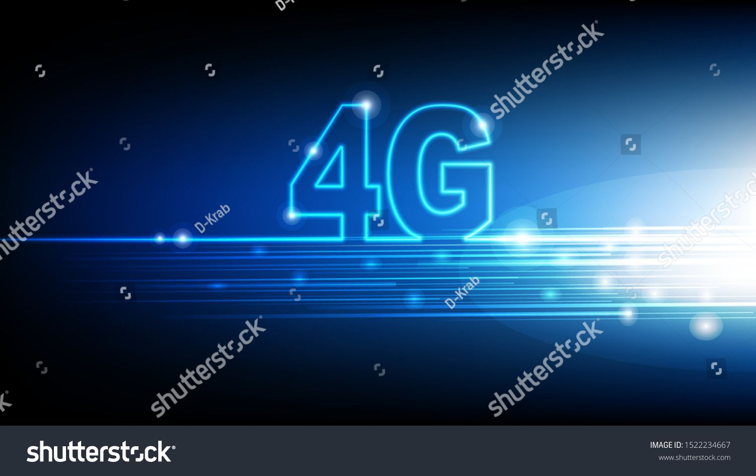 High Speed Internet 4g Technology With Blue Abstract Futuristic