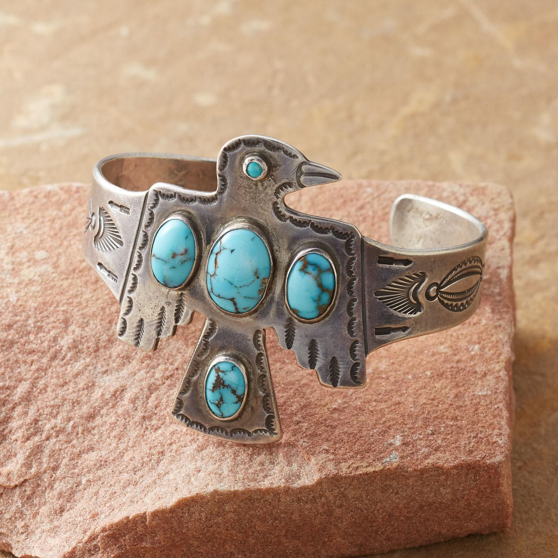 1930s thunderbird cuff burnished by time this navajo sterling 1930s thunderbird cuff burnished by time this navajo sterling silver cuff features a buycottarizona Images