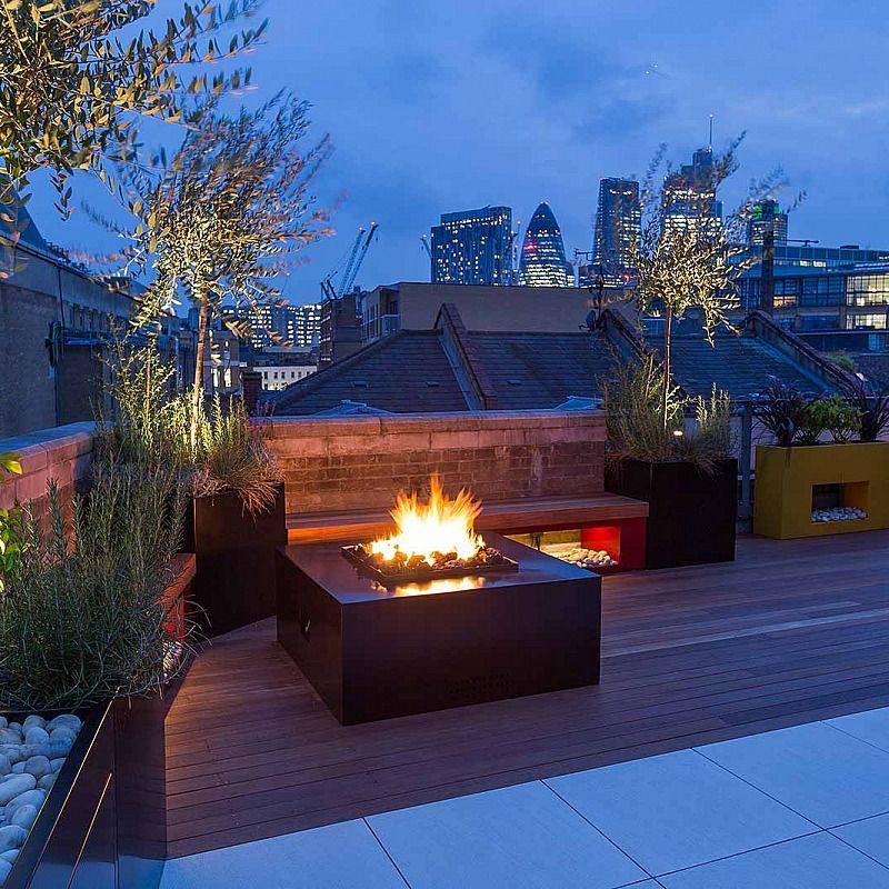 Modern Atlanta Landscape Ideas Designs Remodels Photos: Shoreditch Roof Terrace Design In London