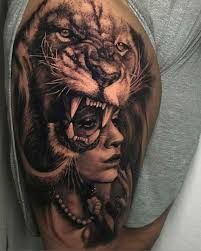 Group Of Related Pictures Tatuajes Leones