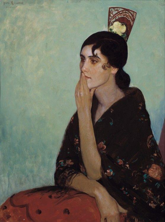 La Gitana, about 1920, Louis Kronberg, American, 1872-1965, Oil on canvas, 80 x 63 cm