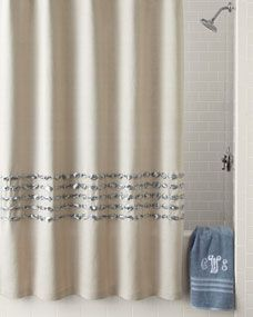 Dransfield Ross House Condotti Shower Curtain Bathroom Shower Curtains Guest Bathroom Remodel Ivory Curtains
