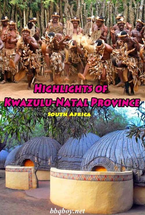 Most people will be surprised to hear that Kwazulu-Natal Province (KZN) is the most visited province in South Africa, renowned for its beautiful beaches, tropical climate, and year-round sunshine as well as its varied and beautiful landscapes. All about the highlights of Kwazulu-Natal Province in this post #bbqboy #KZN #KwazuluNatal #SouthAfrica #travel