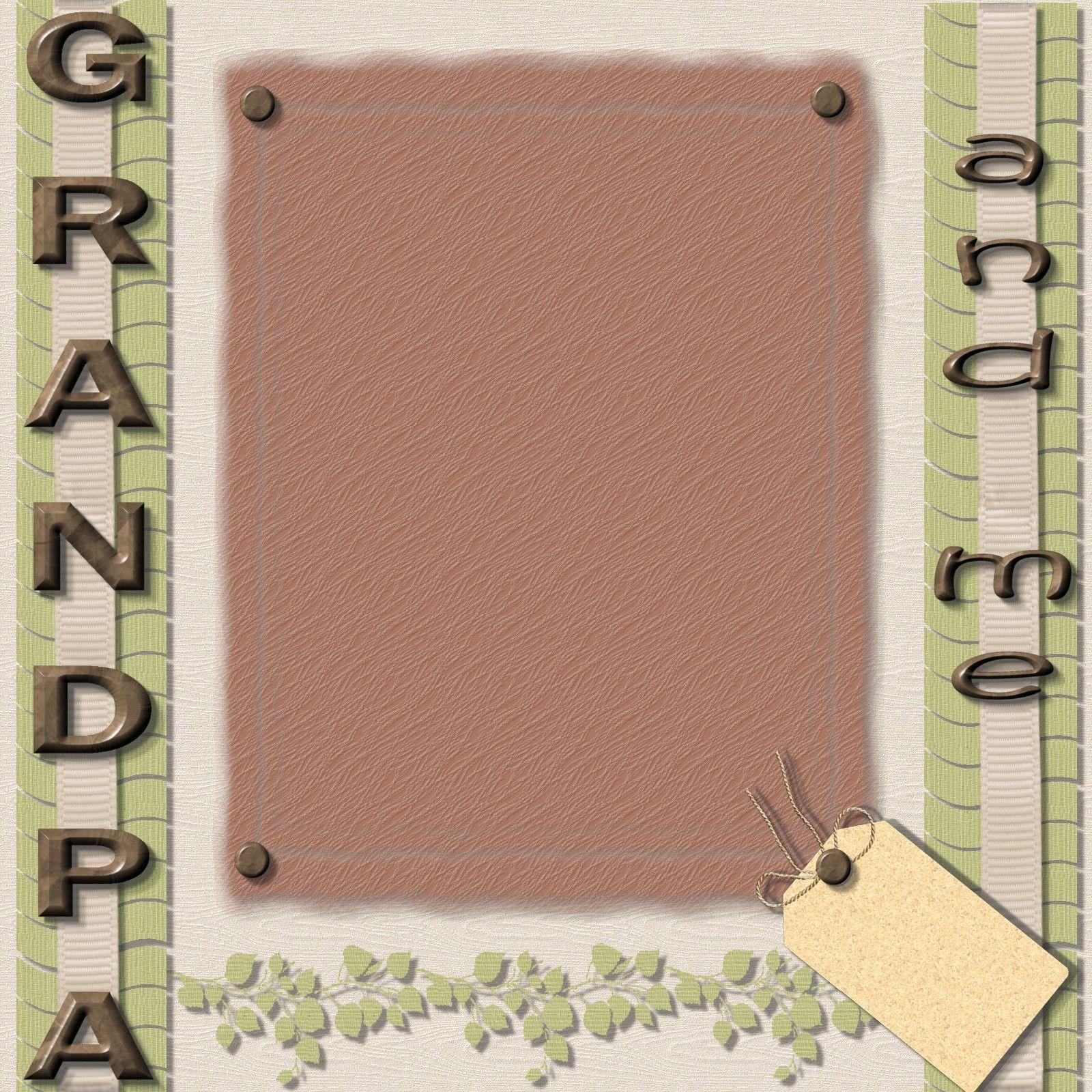 Scrapbook ideas grandma - Grandma Grandpa With Baby Scrapbook Page Ideas Angelwithin S Scrapbooks Grandpa