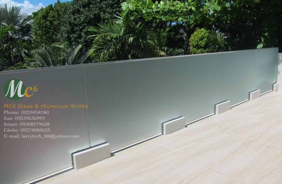 Best Frosted Glass Railing For Loft Area Terrasse Toit 400 x 300