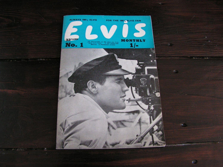 Vintage 1963 Elvis Fan Magazine English Number 1 Fourth Series Rock N  Roll Rockabilly Film Star Icon by VintageBlackCatz on Etsy