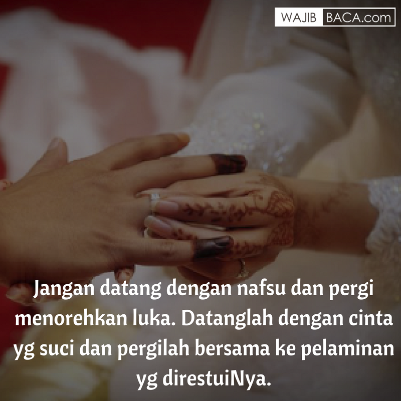 Kata Kata Mutiara Cinta Islami Untuk Calon Suami