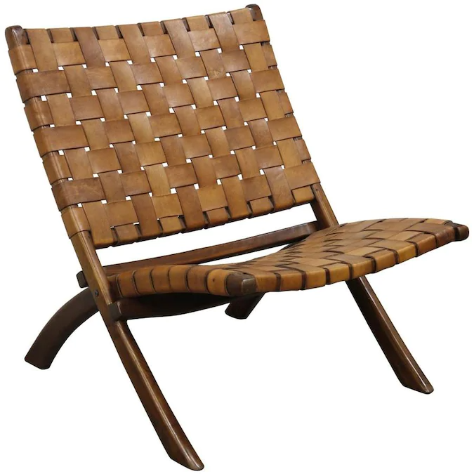 StyleCraft Home Collection Midcentury Cognac Accent Chair