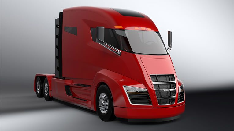 Nikola Motor Company Drops On Sel Rigs With One Hybrid Semi Car Green