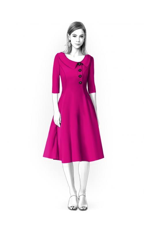 Kleid - Schnittmuster #4657 Maßgeschneiderte Schnittmuster von ...