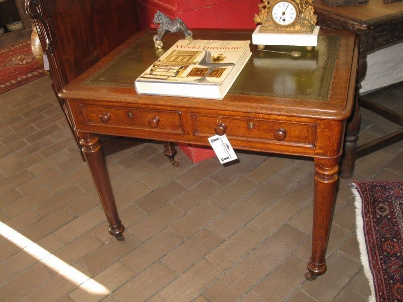 Antique Leather Inlay Oak Writing Desk In South Africa Antique Writing Desk Writing Desk Desk