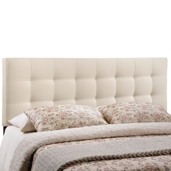 Lily Queen-size Tufted Linen Headboard | For Guests | Pinterest