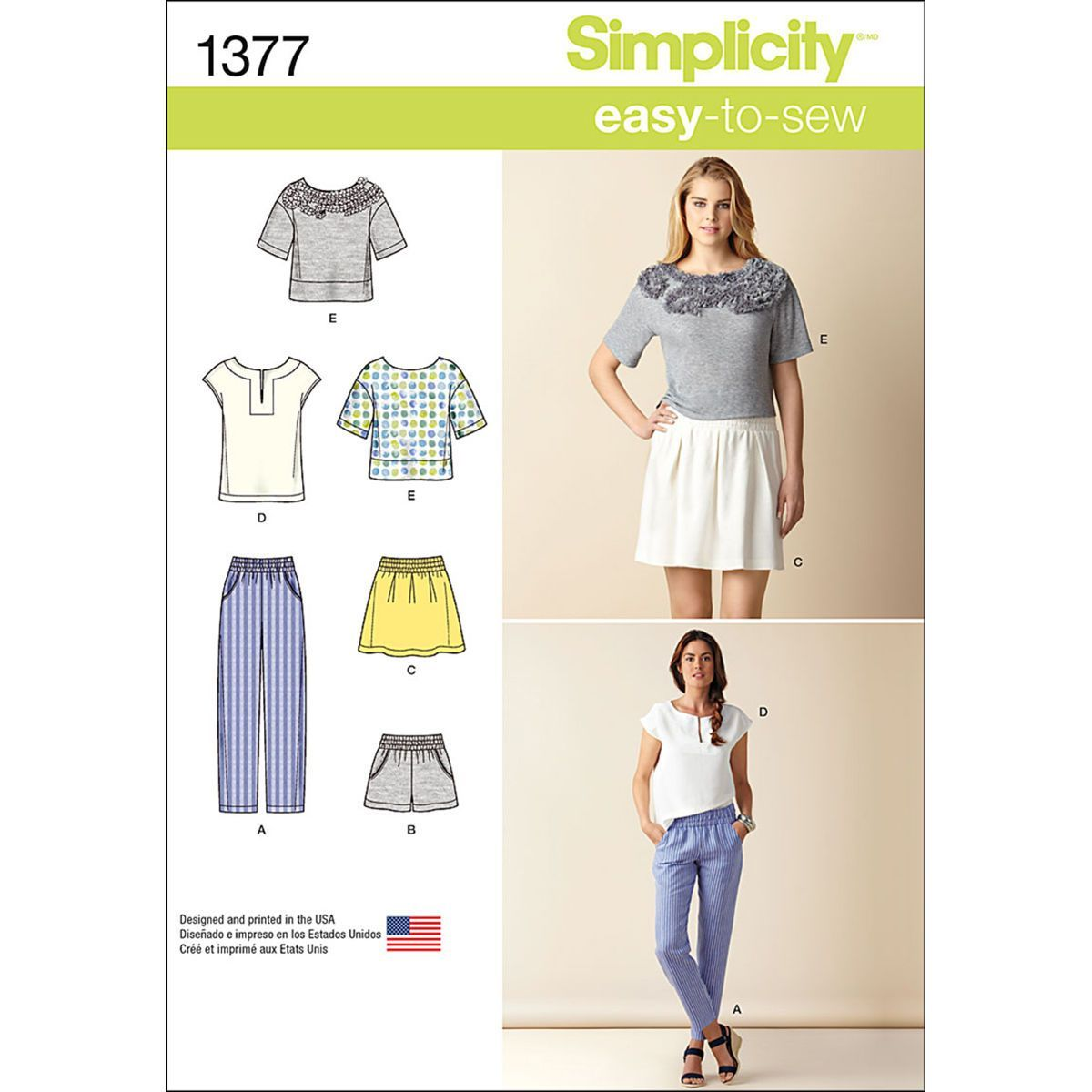 Simplicity Pattern 1377H5 6-8-10-12--Misses Sportswear | Sewing ...