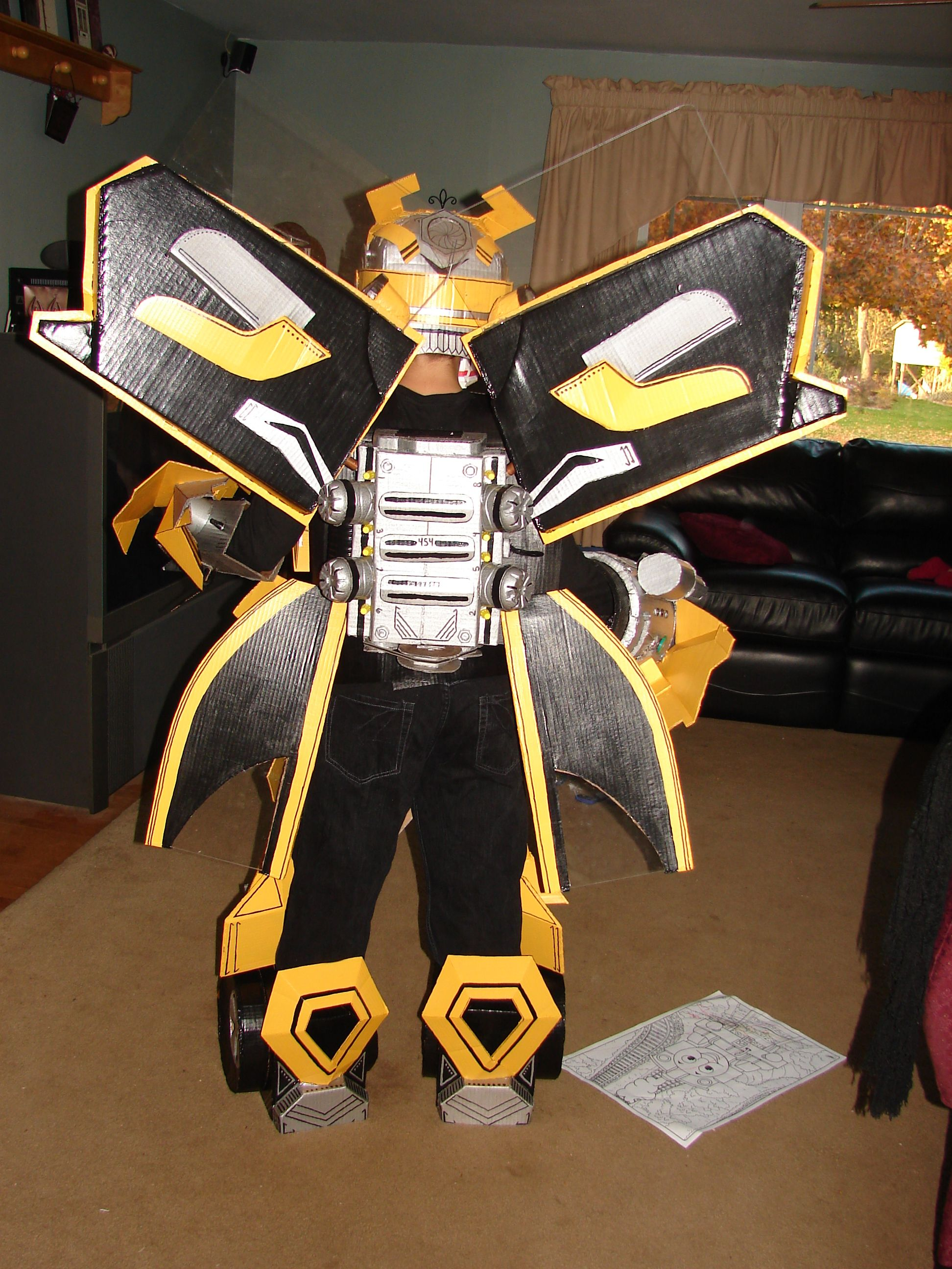 transformers bumblebee homemade costume | Costumes | Pinterest ...