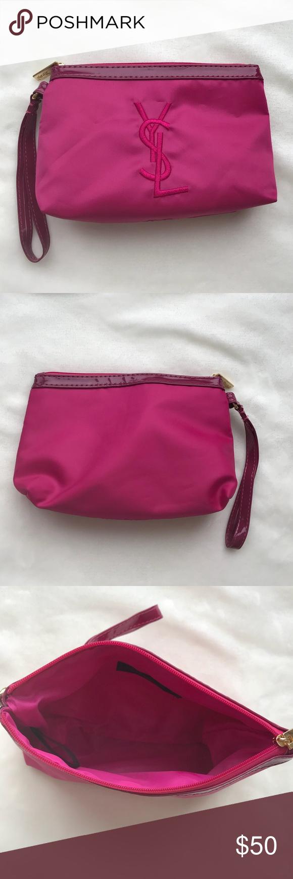 88c895da17 YSL Cosmetics Bag YSL Cosmetics Bag in pink Spotless interior Yves Saint  Laurent Bags Cosmetic Bags   Cases