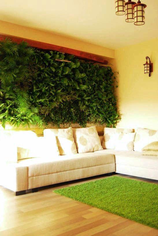 Dise o de jardines verticales muros verdes para interior - Diseno de jardines interiores ...