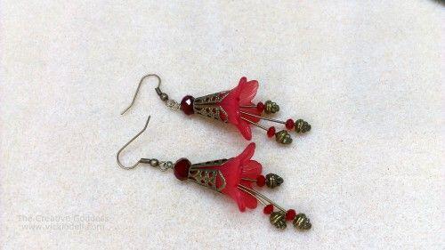 Vintage inspired Flower Earrings