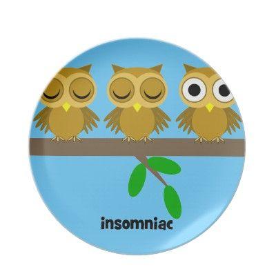 funny insomniac owl dinner plates by animalsboutique  sc 1 st  Pinterest & funny insomniac owl dinner plates by animalsboutique   WHOO\u0027S IN MY ...
