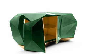 DIAMOND EMERALD Sideboard-Credenza-Buffet by Pedro Sousa from BOCA DO LOBO (Limited Edition Collection, 2013 re-edition) - Copyright: ©BOCA DO LOBO