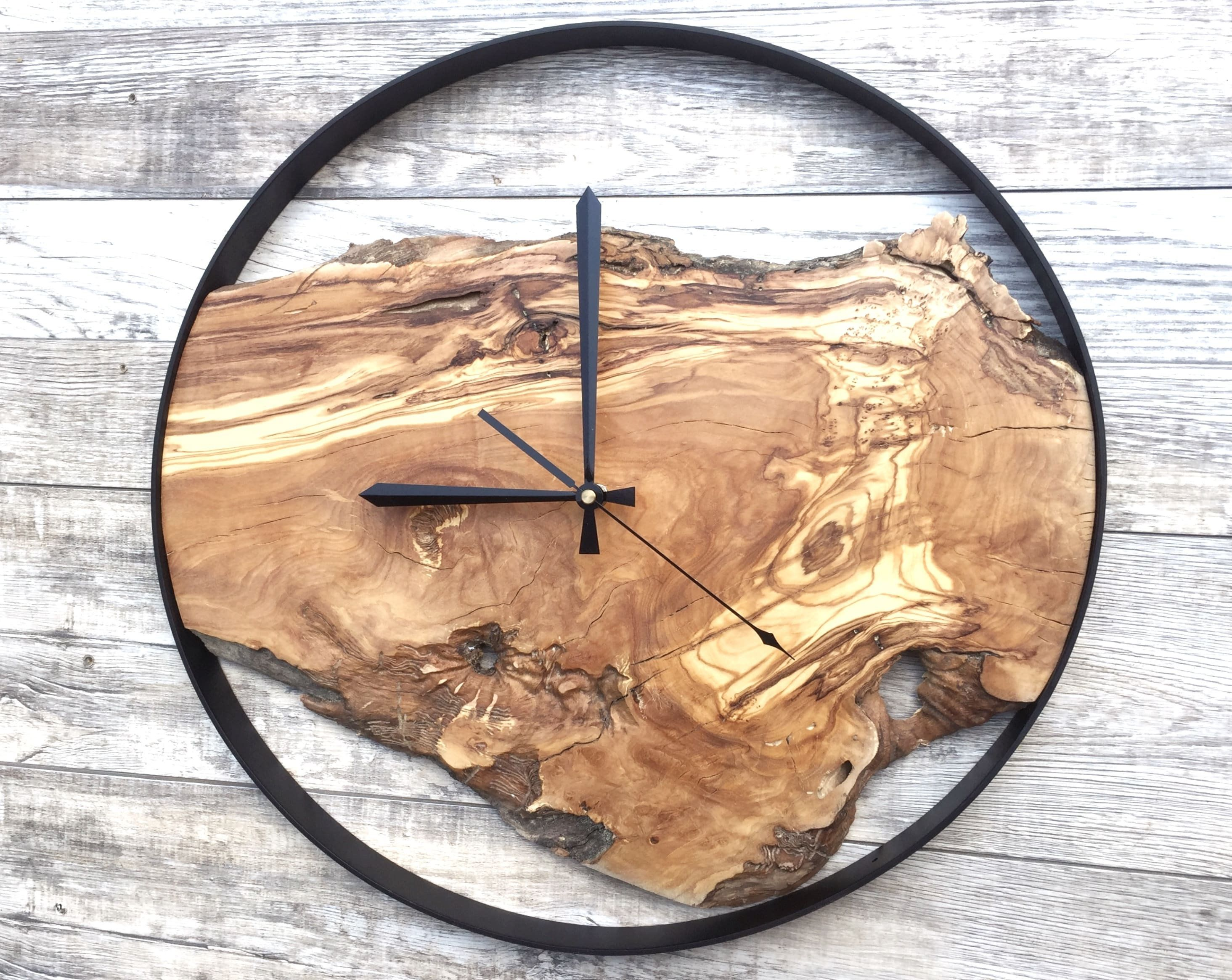 Wood Wall Clock Large Wall Clock Rustic Clock Reclaimed Wood Clock Wooden Clock Unique Wall Clock By Woodc Wood Clock Design Wall Clock Design Wood Clocks
