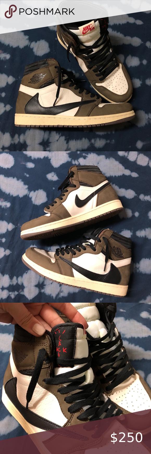 Travis Scott Cactus Jack Aj1 Reps Jordans For Men Air Jordans Retro Men Shoes Size